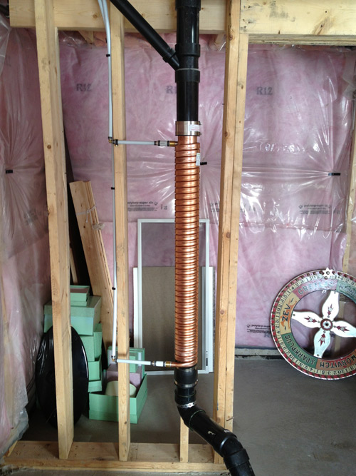 ThermoDrain, Drain Water Heat Recovery, installed